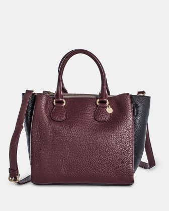 ADAGIO - LEATHER SATCHEL BAG  - WinterwineCombo Céline Dion