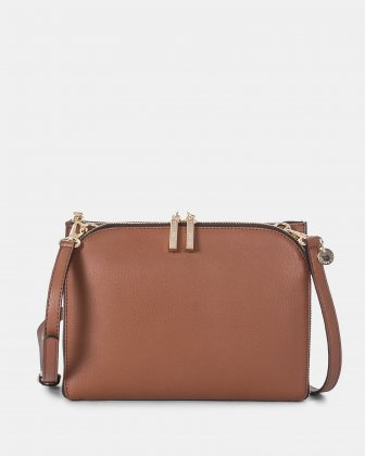 TRIAD - Crossbody with ajustable and removable strap - Tan Céline Dion
