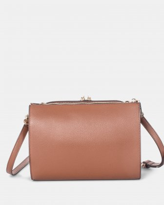 TRIAD - Crossbody with ajustable and removable strap - Tan - Céline Dion