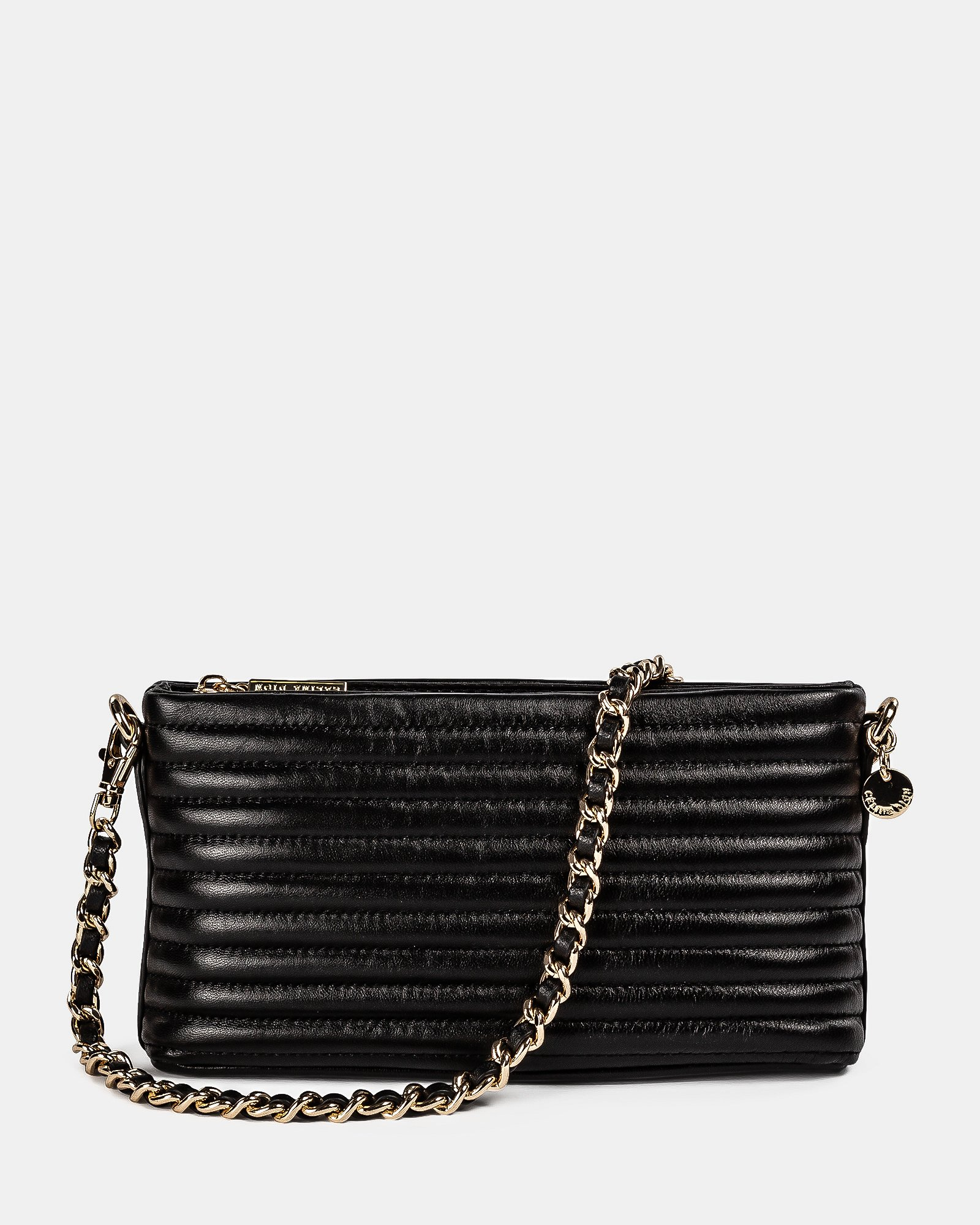 VIBRATO - Quilted leather crossbody with removable strap - BLACK - Céline Dion - Zoom