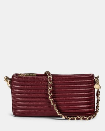VIBRATO - Quilted leather crossbody with removable strap - WINTERWINE Céline Dion