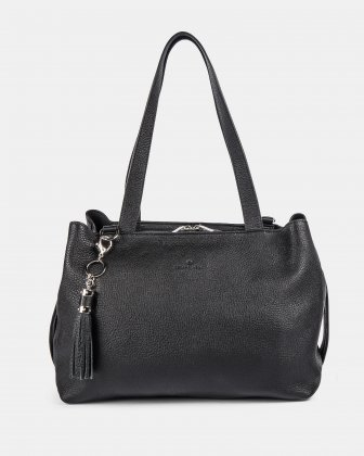 MEZZO - Large Tote bag with removable crossbody strap - Black Céline Dion
