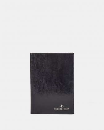 CAVATINA - Passport case in top grain leather -  Black Céline Dion