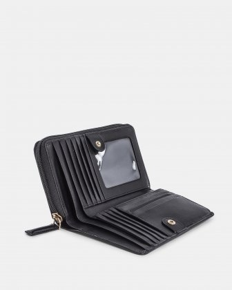 Cavantina - Wallet zip around - Black Céline Dion