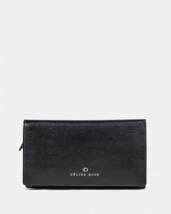 Cavantina - Flat Wallet with magnetic snap closure - Black Céline Dion