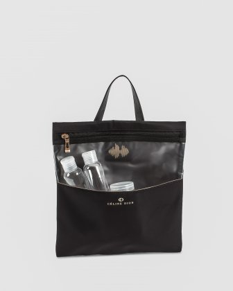 Presto - Toiletry Case with top loop handle - black Céline Dion