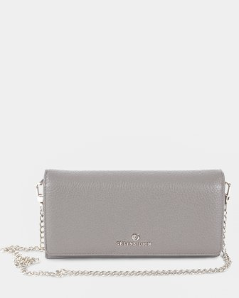 ADAGIO - Wallet Wallet on a string with back cell phone pocket - Taupe Céline Dion