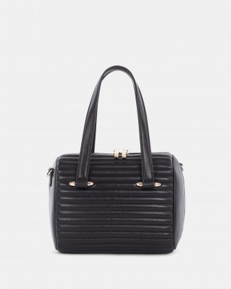 VIBRATO - LEATHER SATCHEL BAG - BLACK Céline Dion
