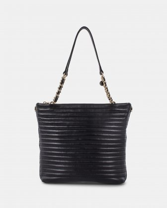 VIBRATO - LEATHER HOBO BAG - BLACK Céline Dion