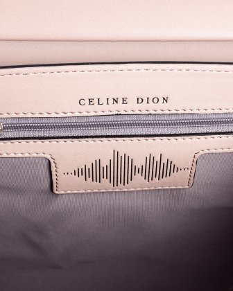 Baroque - Leather Handle bag with Adjustable & removable strap - Blush   Céline Dion