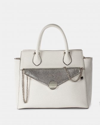 Grazioso - Satchel with Adjustable detachable strap and cluth - white/silver  Céline Dion