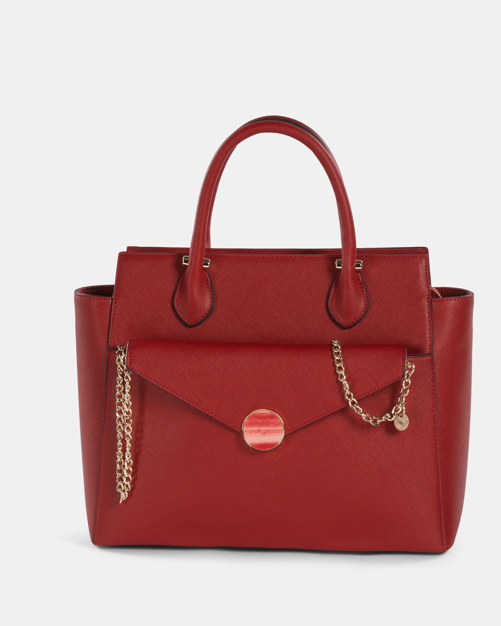 Grazioso - Satchel with Adjustable detachable strap and cluth - red - Céline Dion - Zoom