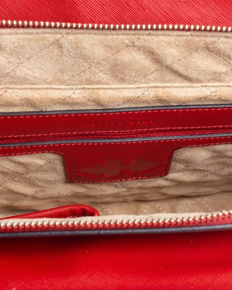 Grazioso - Satchel with Adjustable detachable strap and cluth - red - Céline Dion