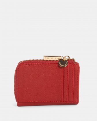 Grazioso - Small Wallet with Multiple cardholder pockets - REd Céline Dion
