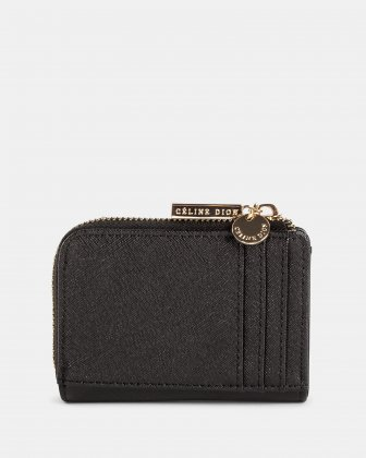Grazioso - Small Wallet with Multiple cardholder pockets - Black Céline Dion