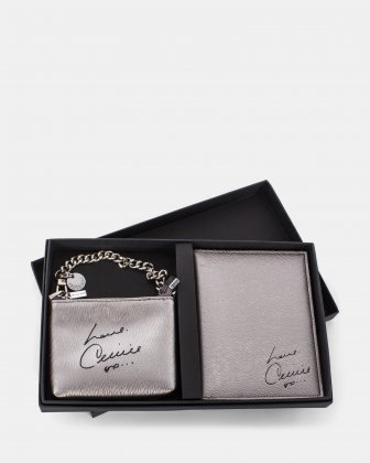 Grazioso - Passport holder and wallet - Pewter     Céline Dion