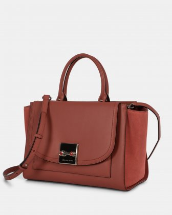 Baroque - Leather and suede Satchel - Sienna Céline Dion