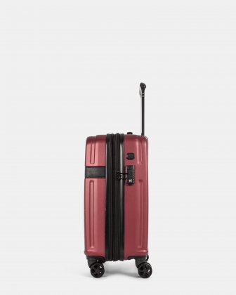 ROME - Resistant ABS Hardside Carry-on with Integrated USB port - wine - Bugatti