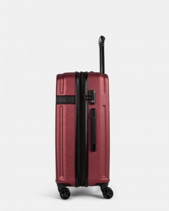 ROME - resistant ABS Hardside Luggage 24'' with TSA lock - wine Bugatti