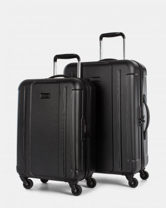 ATHENS - 2-PIECE HARDSIDE LUGGAGE SET with TSA lock - Black Bugatti