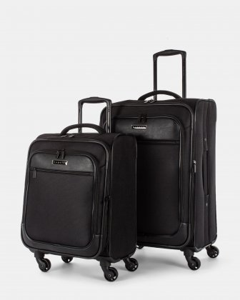 DUBLIN - 2-PIECE POLYESTER LUGGAGE - BLACK Bugatti