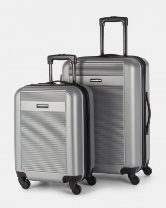 2 Piece ABS Hard Luggage - Silver  Bugatti