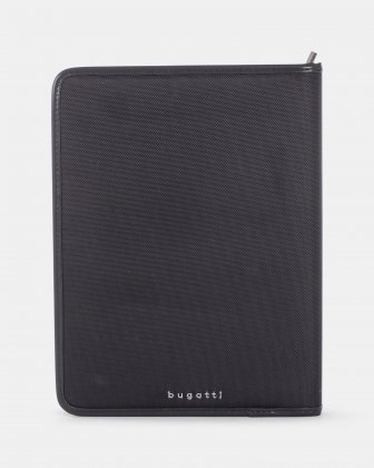 """Bugatti - WRITING CASE with Padded laptop section for 14"""" - Black - Bugatti"""