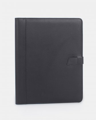 BUGATTI - Writing Case with tab closure and organizational sections - BLACK - Bugatti
