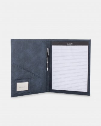 Bugatti - WRITING CASE with ID window - Blue Bugatti