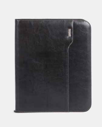 Bugatti - WRITING CASE with Front quick-access pocket - Black Bugatti