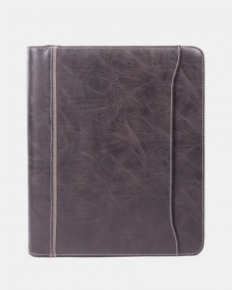 Bugatti - RING BINDER – 1.5″ with tablet section - Brown Bugatti