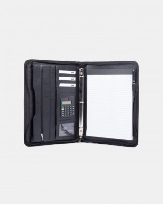 Bugatti - RING BINDER – 0.5″  with tablet section - Black Bugatti