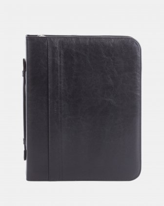 bugatti - RING BINDER – 2″ with Zip around closure - Black Bugatti