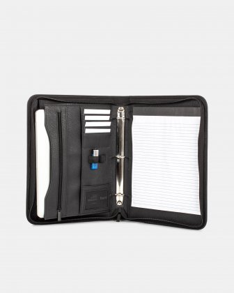 Bugatti - RING BINDER – 1″ with tablet section - Black  Bugatti