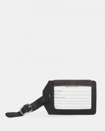 Bugatti - Leather Luggage Tag - Black   Bugatti