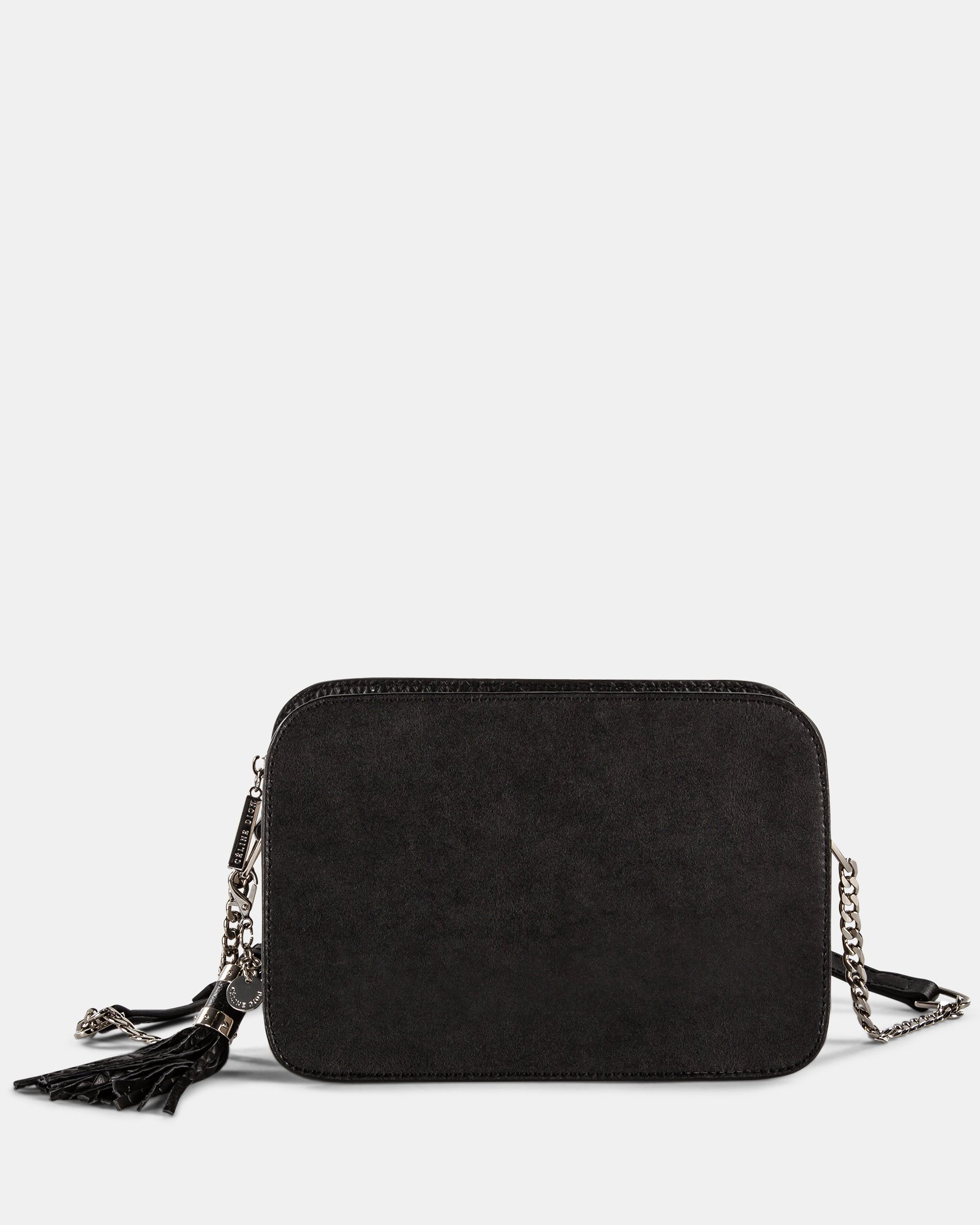 ELEGY - LEATHER CROSSBODY with Side pockets with magnetic closure - Black/Sand - Céline Dion - Zoom