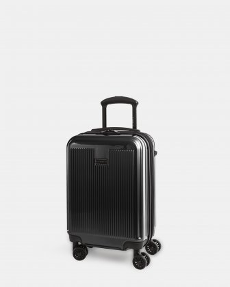 SINGAPORE - ABS & polycarbonate Hardside Carry-on with TSA lock - Black  Bugatti