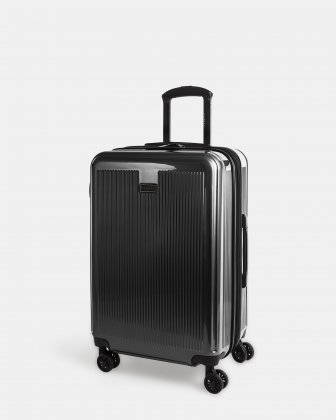 SINGAPORE - Abs & polycarbonate Hardside Luggage 24'' Upright - Black Bugatti