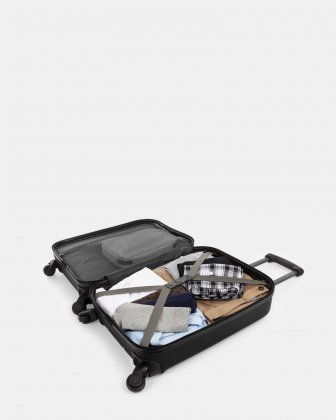 "CHICAGO - Lightweight Hardside Carry-on with 17.3"" laptop compartment - BLACK Bugatti"