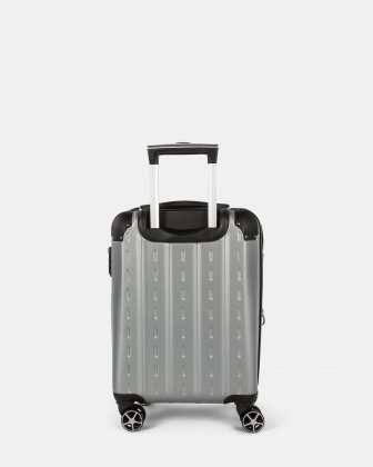NEW YORK - Lightweight Hardside Carry-on with Integrated USB port - Silver - Bugatti