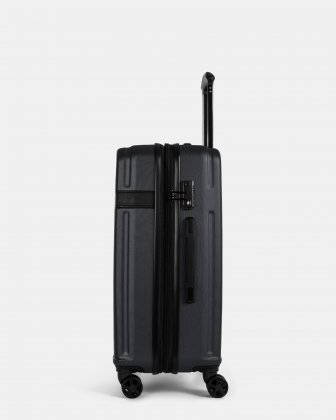 ROME - resistant ABS Hardside Luggage 24'' with TSA lock - Black Bugatti