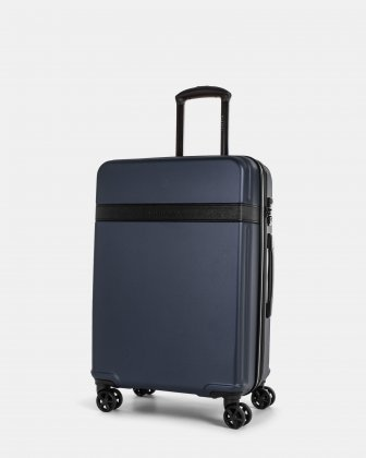 ROME - resistant ABS Hardside Luggage 24'' with TSA lock - Blue Bugatti