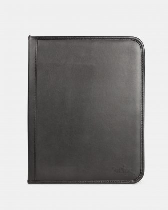 BUGATTI - RING BINDER – 1″ WITH ZIP AROUND CLOSURE - BLACK Bugatti