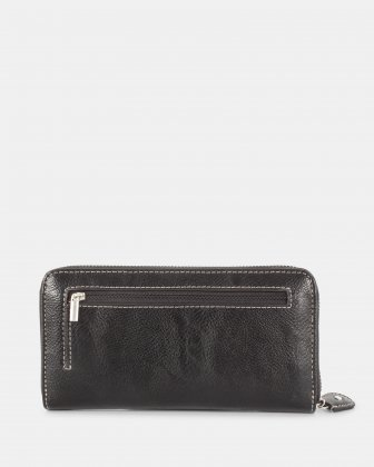 BARBARA - Ladies Wallet with zip around wallet - Black Joanel