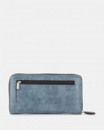 BARBARA - Ladies Wallet with zip around wallet - Denim Joanel
