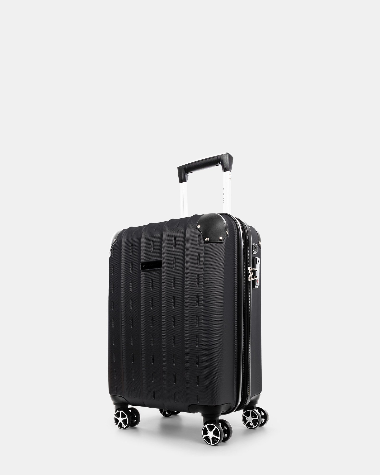 NEW YORK - Lightweight Hardside Carry-on with Integrated USB port - Black - Bugatti - Zoom