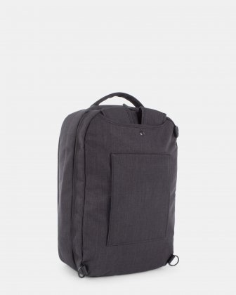 """Traveller - CONVERTIBLE BACKPACK/briefcase for 15.6"""" laptop with Back compartment - Charcoal   - Bugatti"""