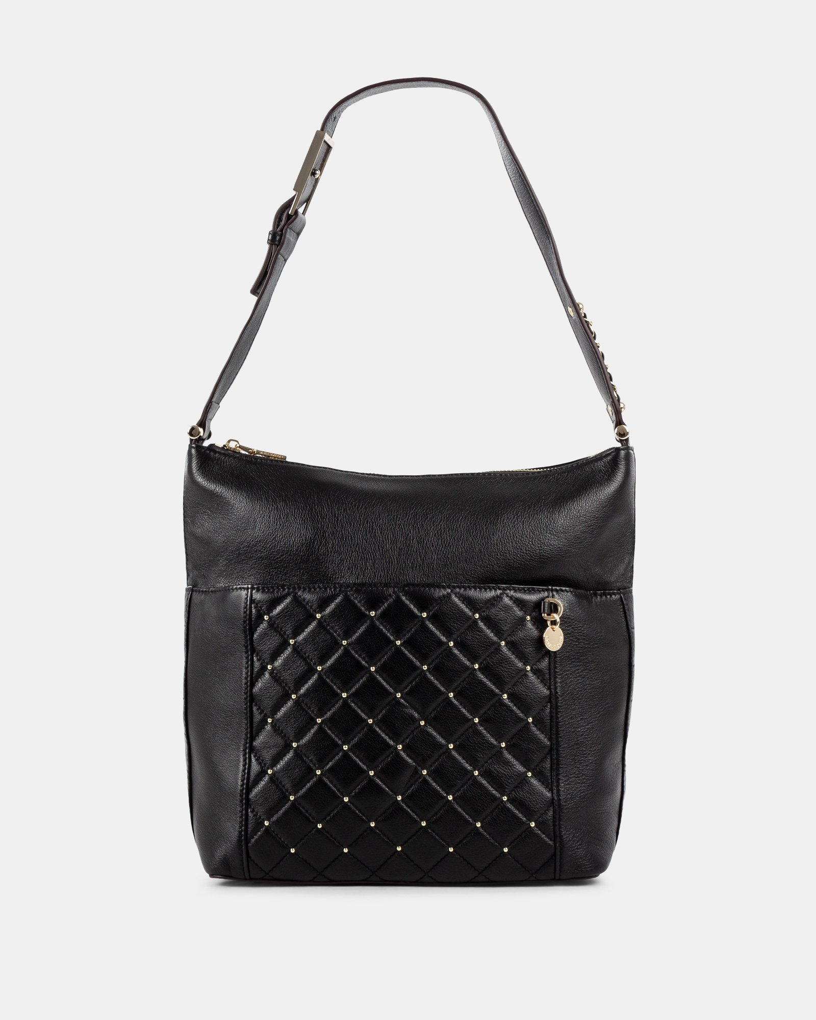 Fastoso - hobo with Front zippered pocket - Black - Céline Dion - Zoom