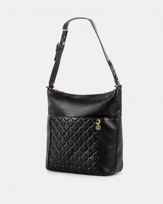 Fastoso - hobo with Front zippered pocket - Black Céline Dion