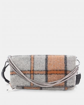 Prelude - clutch with Central zippered section - Rust Céline Dion